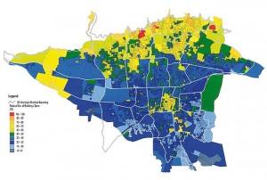 نقشه گسل های فعال تهران