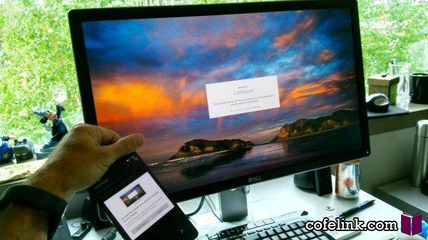 جو بلفیور در حال نمایش نسخه موبایل ویندوز 10