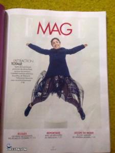 گلشیفته به عنوان یک مدل در مجله فرانسوی
