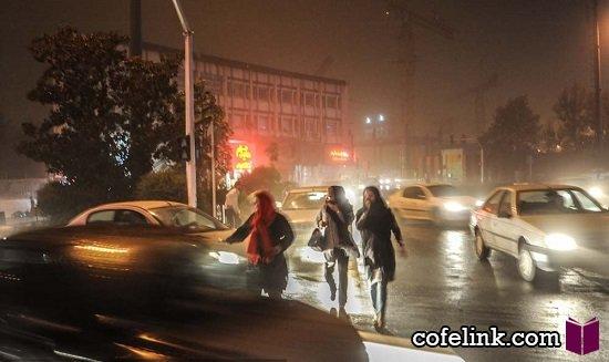 طوفان شدید در تهران