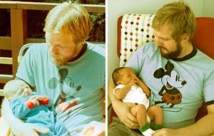 شباهت عجیب بین پدر و پسر که تو این زوایه با پسرشون عکس انداختن