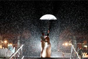 عروسی بارانی