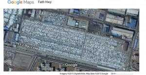 تصویر هوایی از یکی از انبارهای خودرو