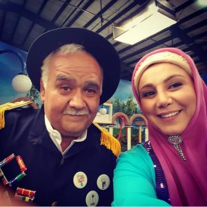 سلفی بهنوش بختیاری و اکبر عبدی