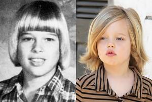 ایشونم که دیگه معروفترین مرد دنیاست براد پیت به همراه دخترش شیلوه که بسیار شبیه همن