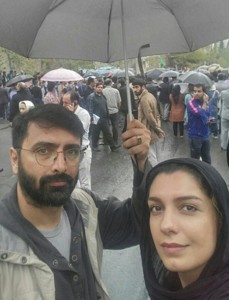 سلفی الیکا عبدالرزاقی و همسرش