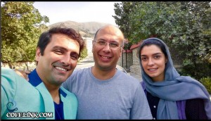 الیکا عبدالرزاقی و امین حیایی بهمراه جناب خان