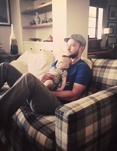 جاستین تیمبر لیک و پسرش
