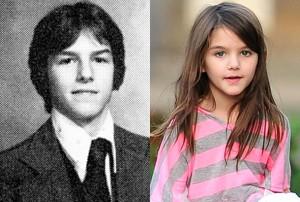 بازم شباهت ژنیتکی اینابر هم تو مشاهیر تام کروز و سوری کروز که بسیار شبیه همن