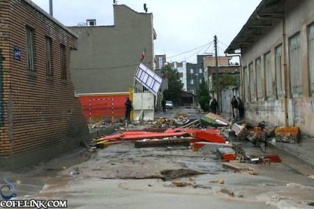 آبگرفتگی و از یک سو عدم کنترل آب های سطحی و خروجی های نامناسب فاضلاب شهری از عوامل حادثه بشمار می آید