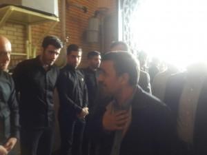 احمدی نژاد در مراسم ختم نوروزی