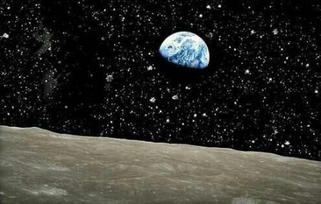 منظره زمین از روی ماه