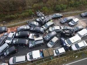 تصادف زنجیره ای آزادراه قزوین-کرج