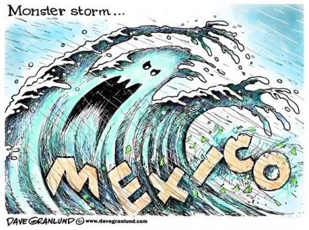 طوفان مهیب مکزیک