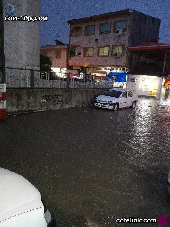آب گرفتگی شهر رشت