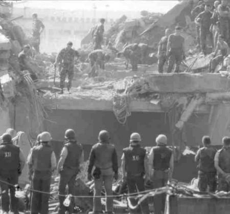 بمبگذاری مقر تفنگداران دریایی آمریکا در بیروت