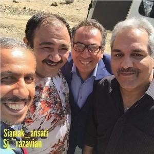 مهران مدیری، سیامک انصاری، مهران غفوریان و جواد رضویان