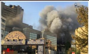 آتش سوزی در وزارت کشور