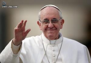 پاپ فرانسیس که بخاطر تلاش برای بهبود روابط آمریکا و کوبا نامزد جایزه صلح نوبل است
