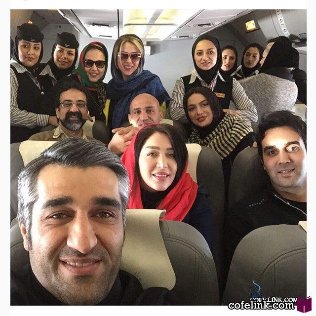 سلفی پزمان جمشیدی همراه با پوریا پور سرخ و بقیه