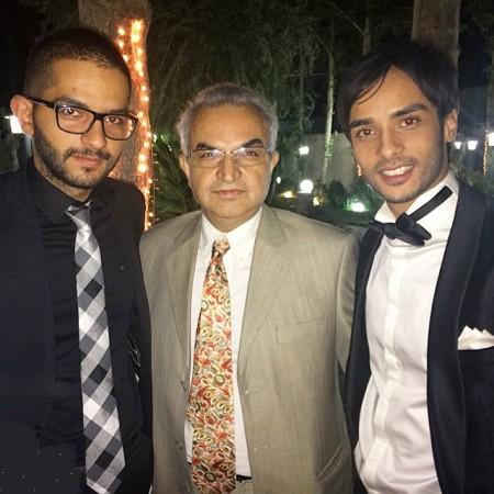 ساعد سهیلی و ابوالحسن داوودی در مراسم ازدواجش