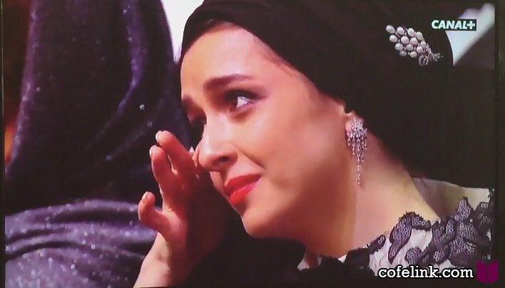 گریه های ترانه علیدوستی بعد از دریافت نخل طلای کن توسط شهاب حسینی