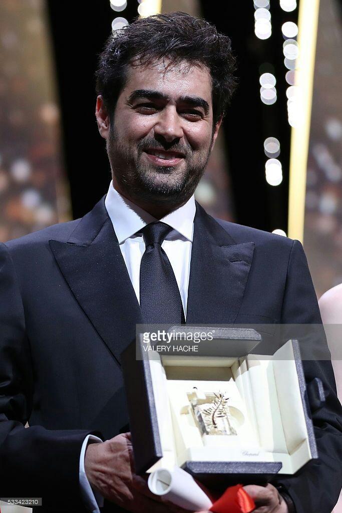 شهاب حسینی برنده نخل طلای بهترین بازیگر مرد بخاطر فیلم فروشنده در سال 2016