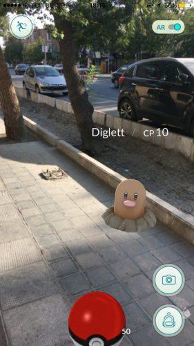 یکی از جانورهای Pokémon GO