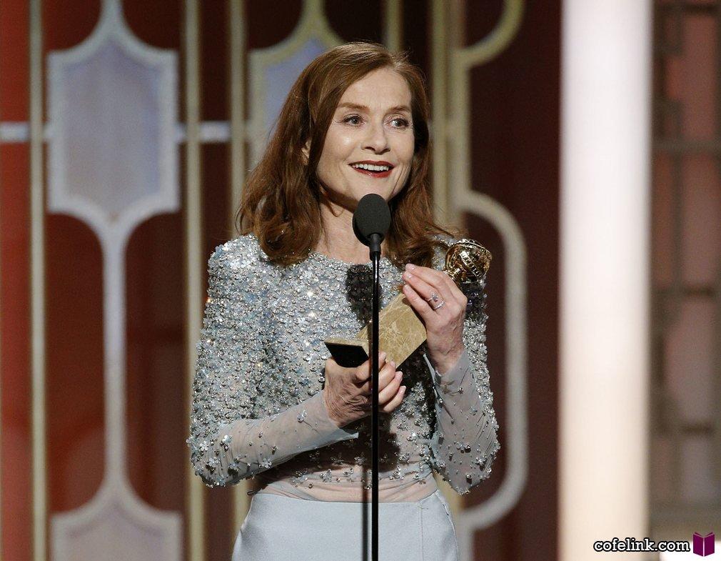 """ایزابل هوپر برنده جایزه بهترین بازیگر زن درام برای فیلم """"او"""" شد"""