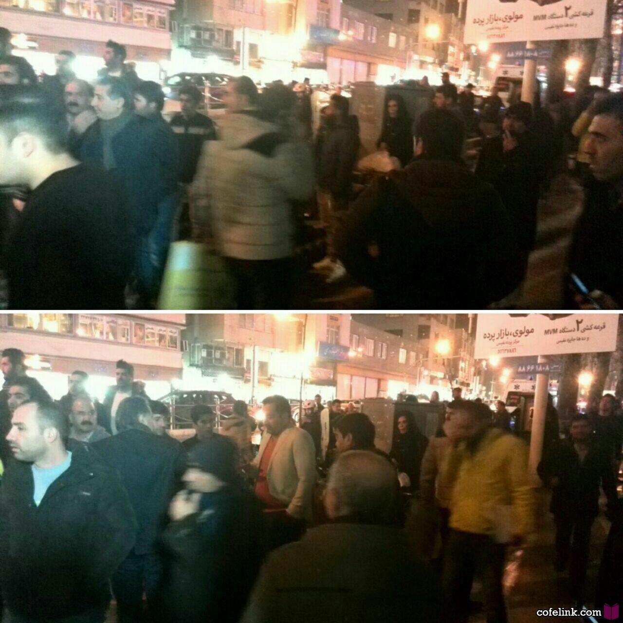 تجمع مردم جلوی بیمارستان شهدای تجریش بعد از درگذشت آیت الله هاشمی