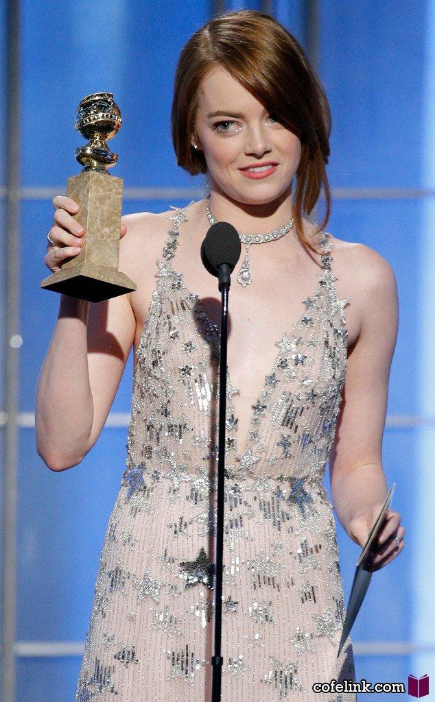 اما استون برنده بهترین بازیگر زن کمدی یا موزیکال